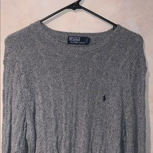 Polo by Ralph Lauren 100% Silk Grey Sweater Mens